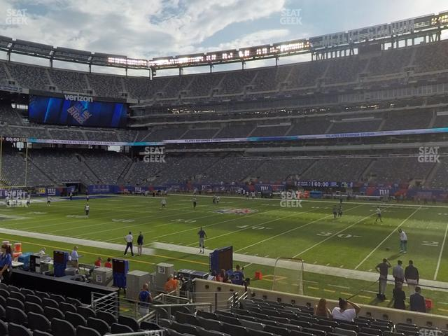 MetLife Stadium Section 111 A view