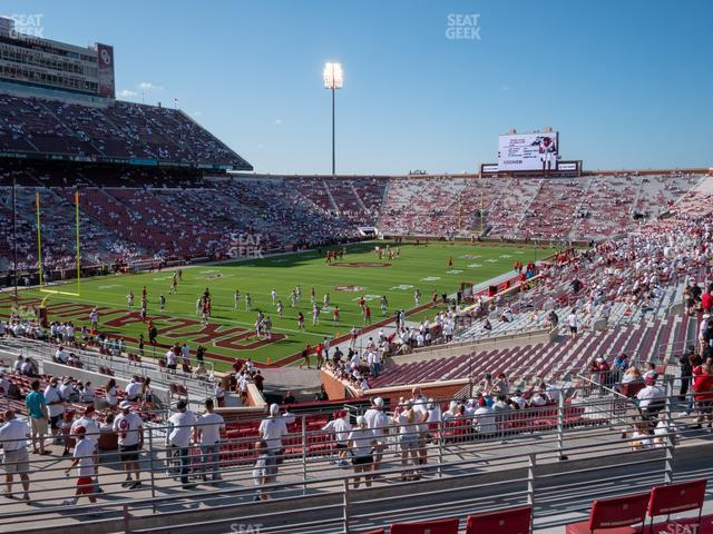 Gaylord Family Oklahoma Memorial Stadium Section 39 view