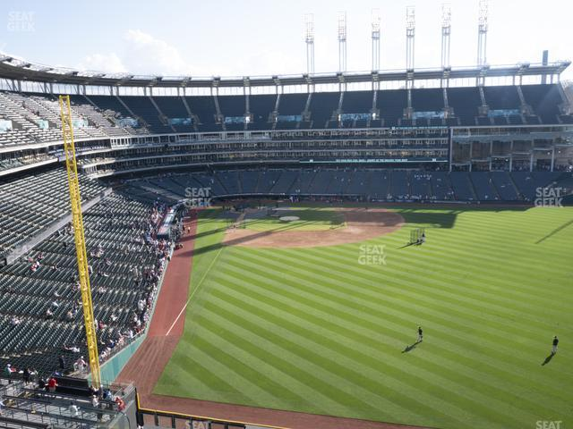 Progressive Field Section 411 view