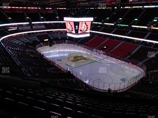 Canadian Tire Centre Section 304 view