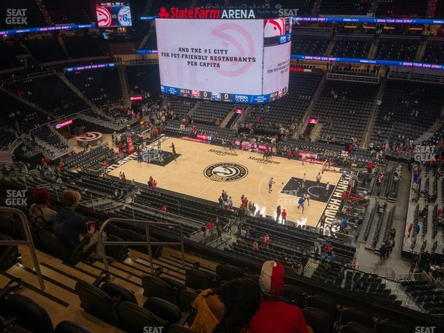 State Farm Arena Section 207 view