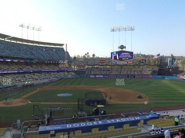 Dodger Stadium Loge Box 130 view
