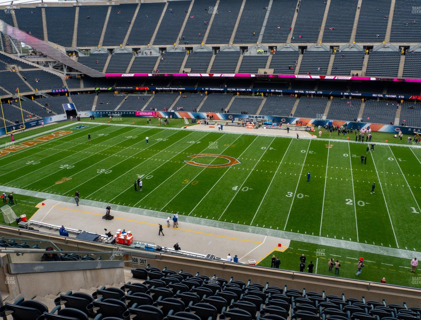 Chicago Bears at Soldier Field Section 307 View