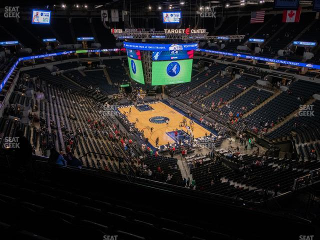 Target Center Section 224 view