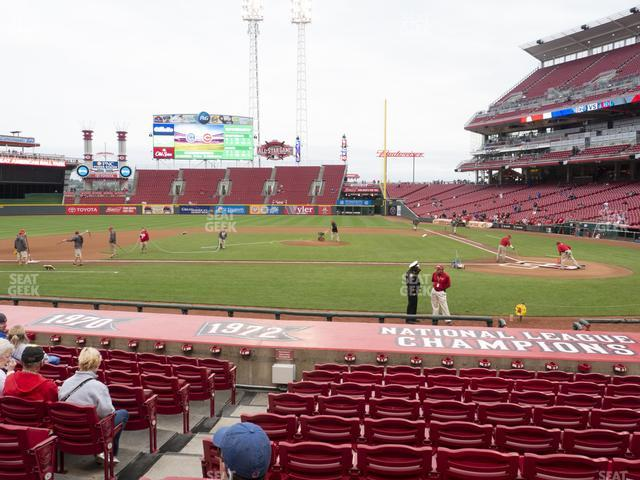 Great American Ball Park Section 119 view