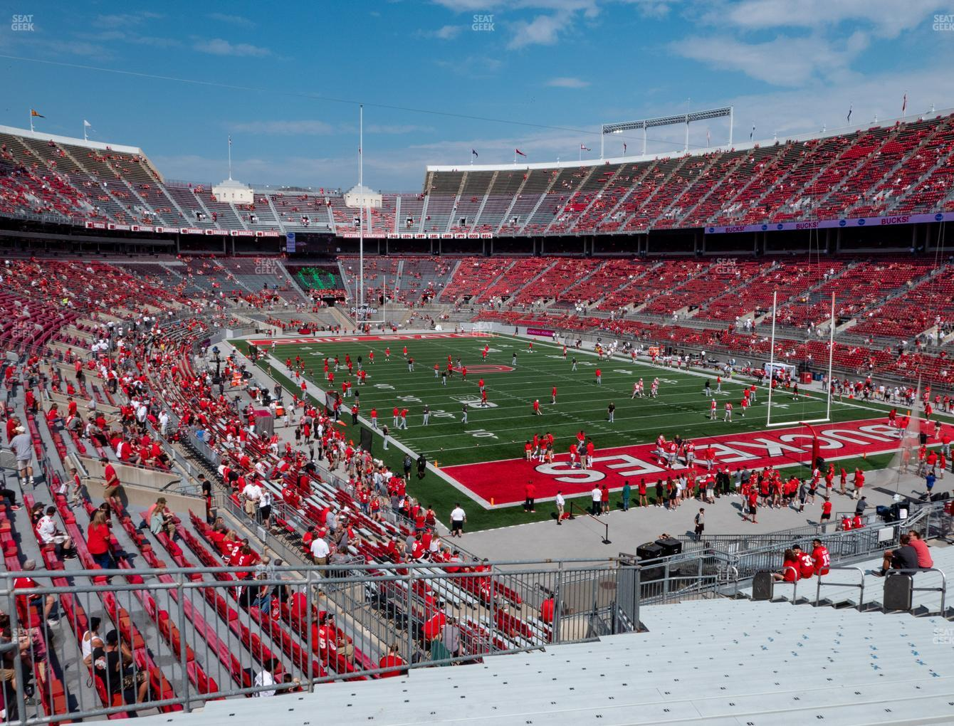 Ohio State Buckeyes Football at Ohio Stadium Section 33 A View