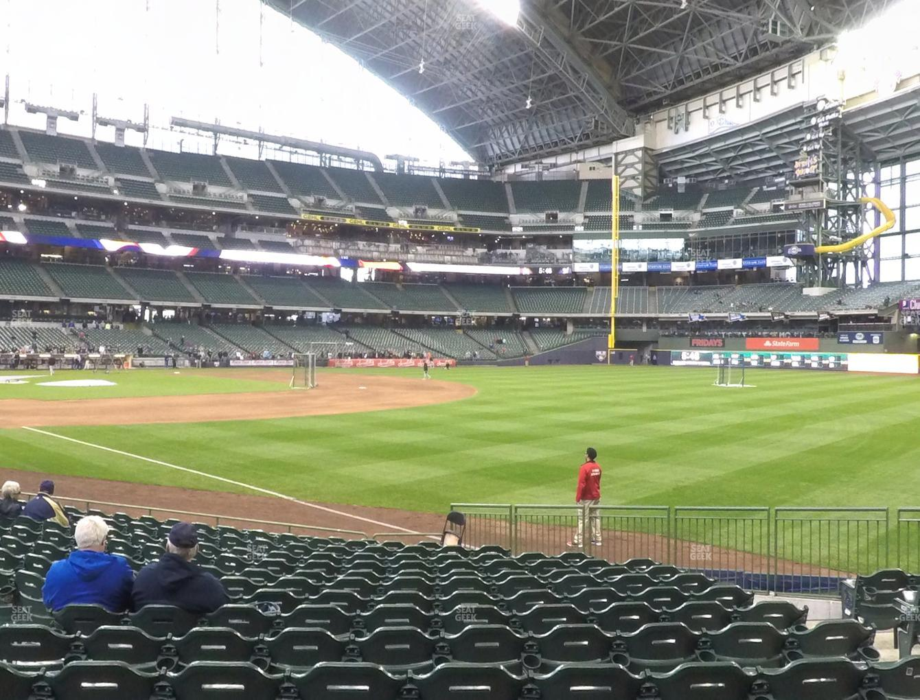 Milwaukee Brewers at American Family Field Section 108 View