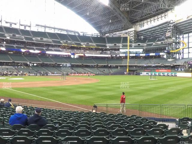 Miller Park Section 108 view