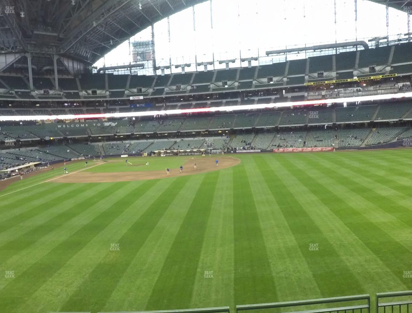 Milwaukee Brewers at American Family Field Section 202 View