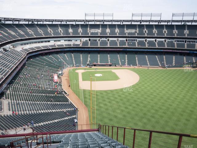 Globe Life Park Section 345 view