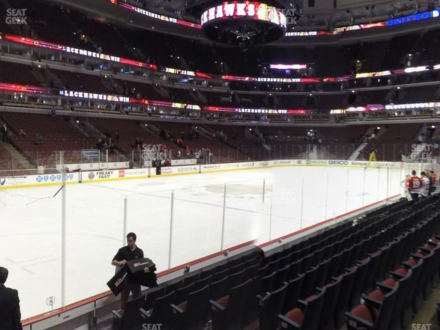 United Center Section 114 view