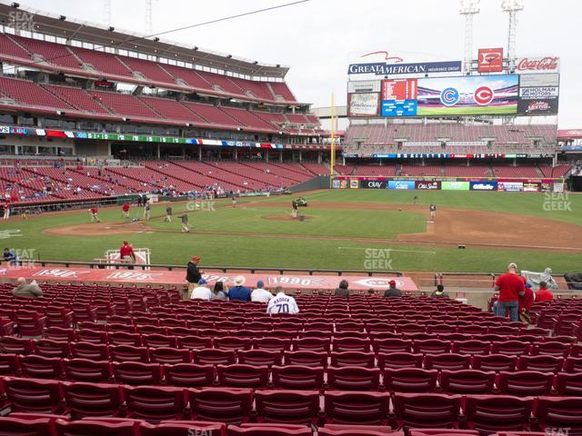Great American Ball Park Section 130 view