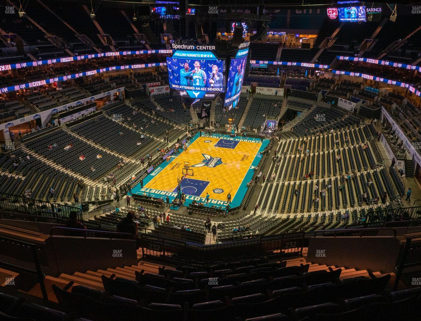 Charlotte Hornets at Spectrum Center Section 232 View