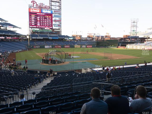 Citizens Bank Park Section 121 view