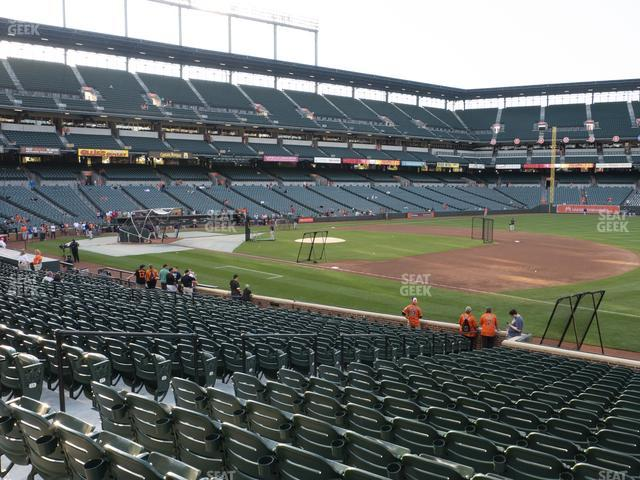 Oriole Park at Camden Yards Section 14 view