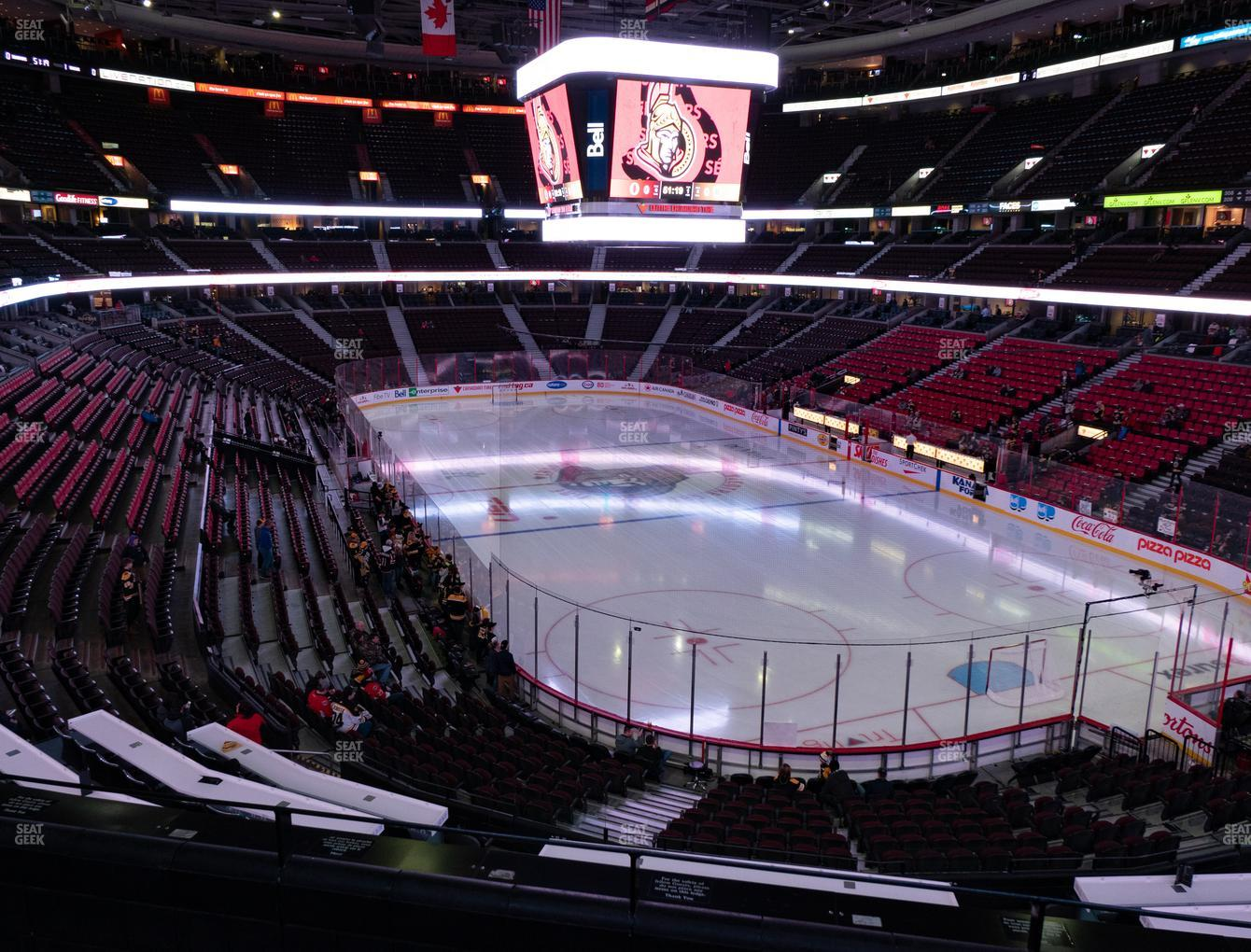 Ottawa Senators at Canadian Tire Centre Section 217 View