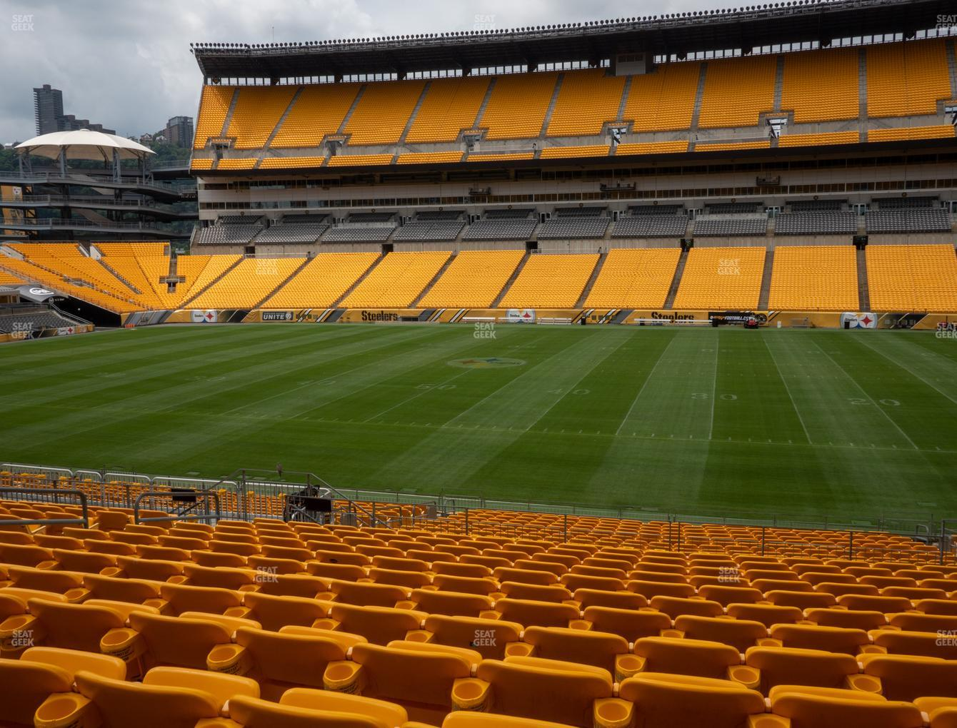 Pittsburgh Steelers at Heinz Field Section 112 View