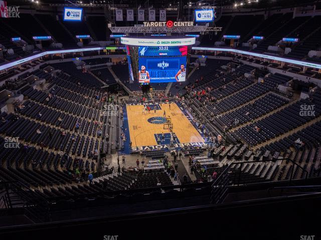 Target Center Section 202 view