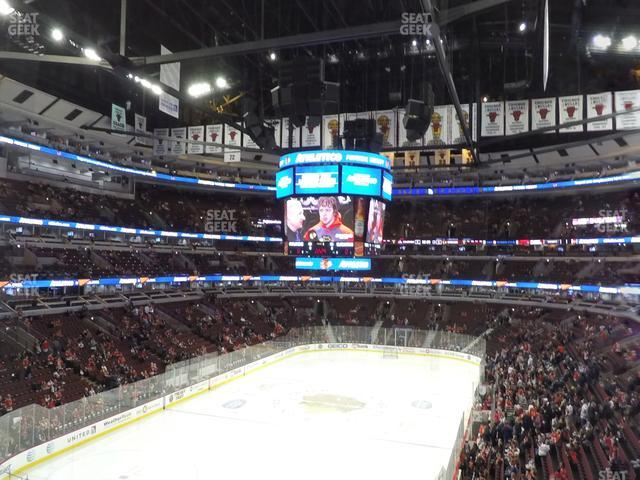 United Center Section 207 view