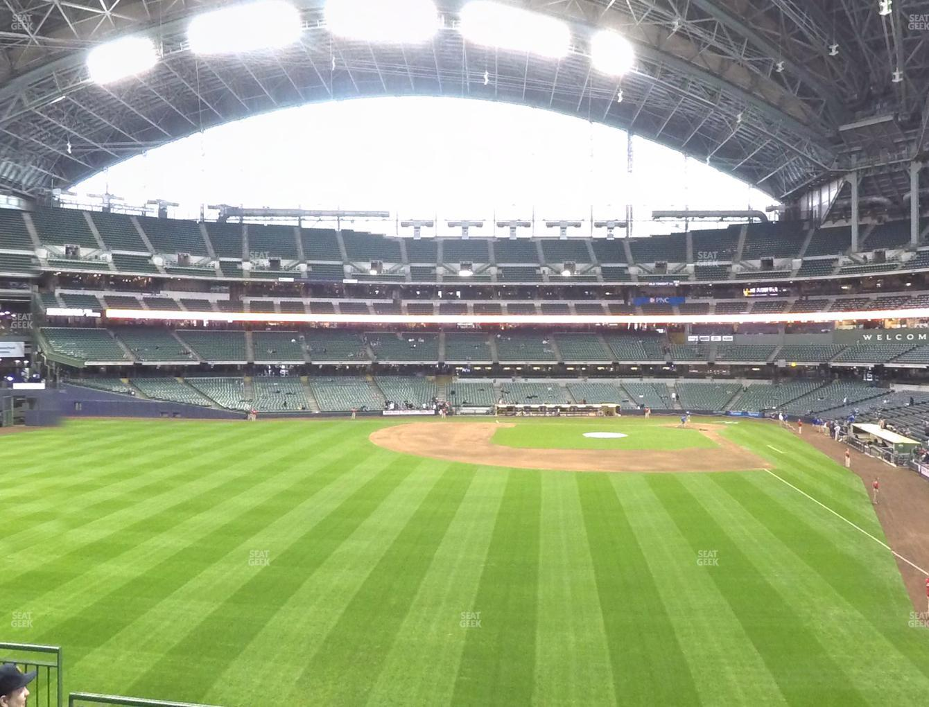 Milwaukee Brewers at Miller Park Section 235 View