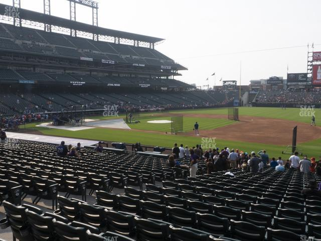 Coors Field Section 120 view