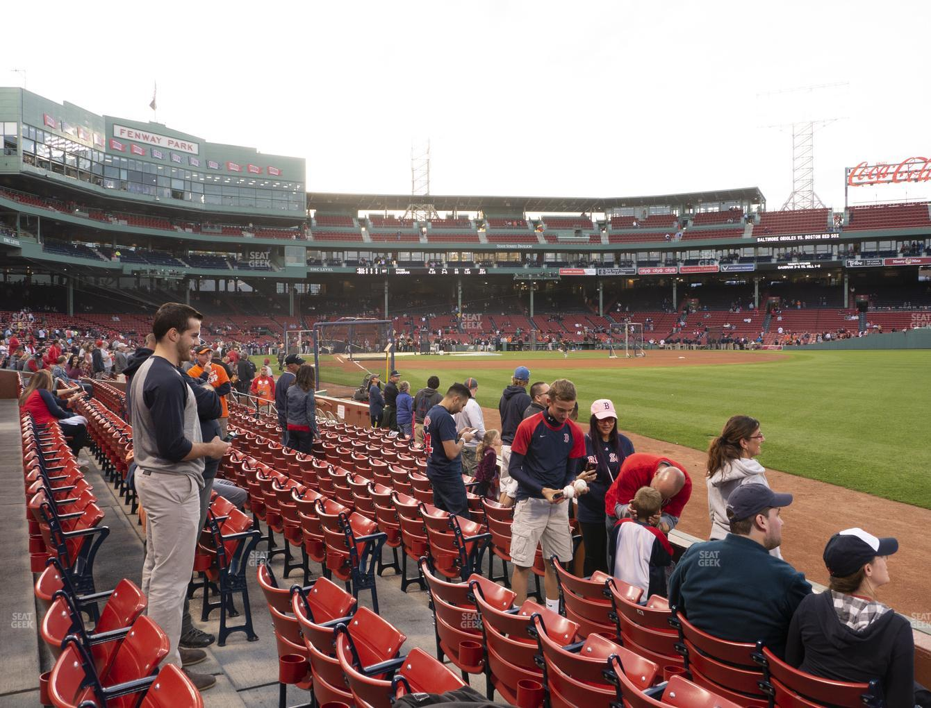 Boston Red Sox at Fenway Park Right Field Box 6 View