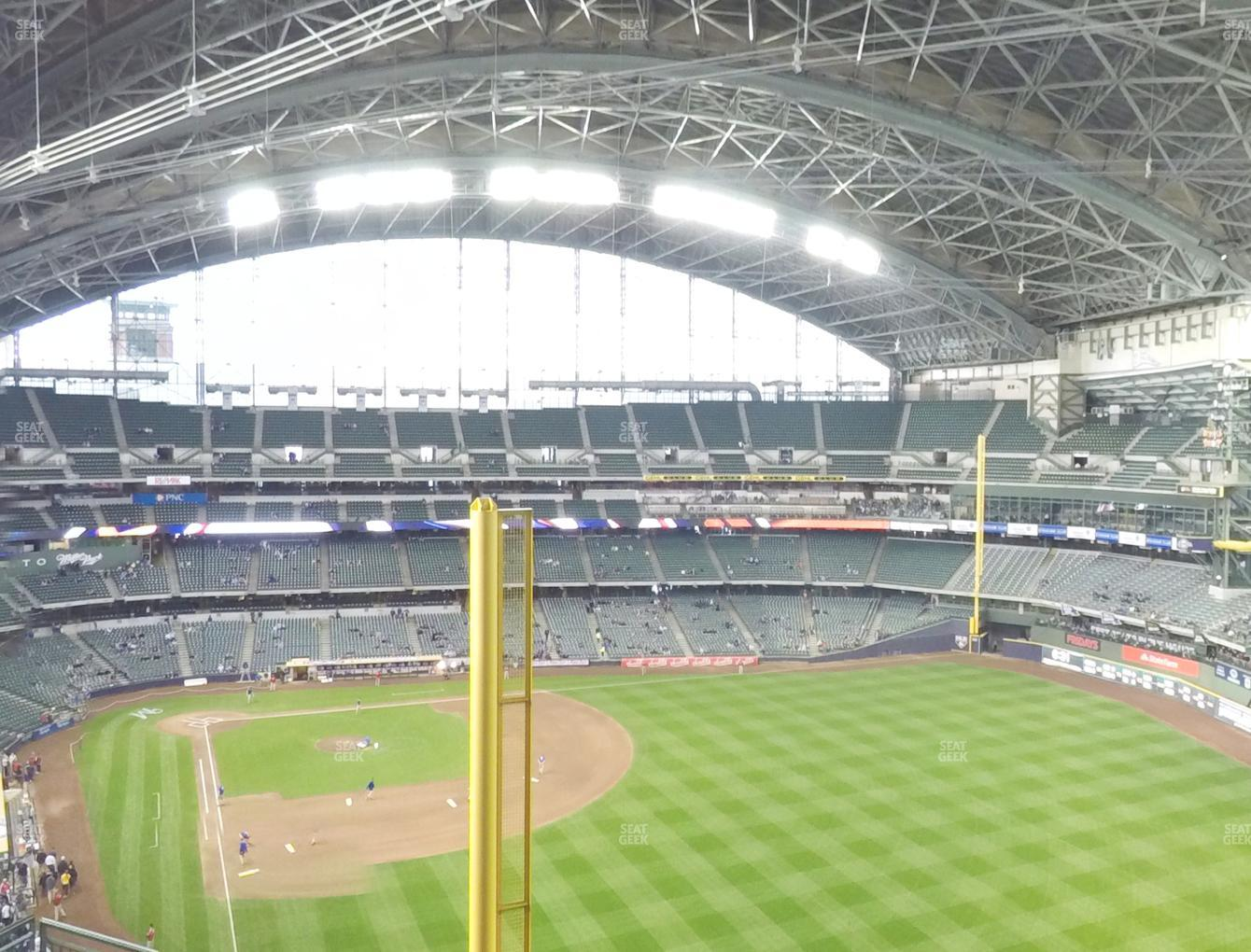 Milwaukee Brewers at Miller Park Section 404 View