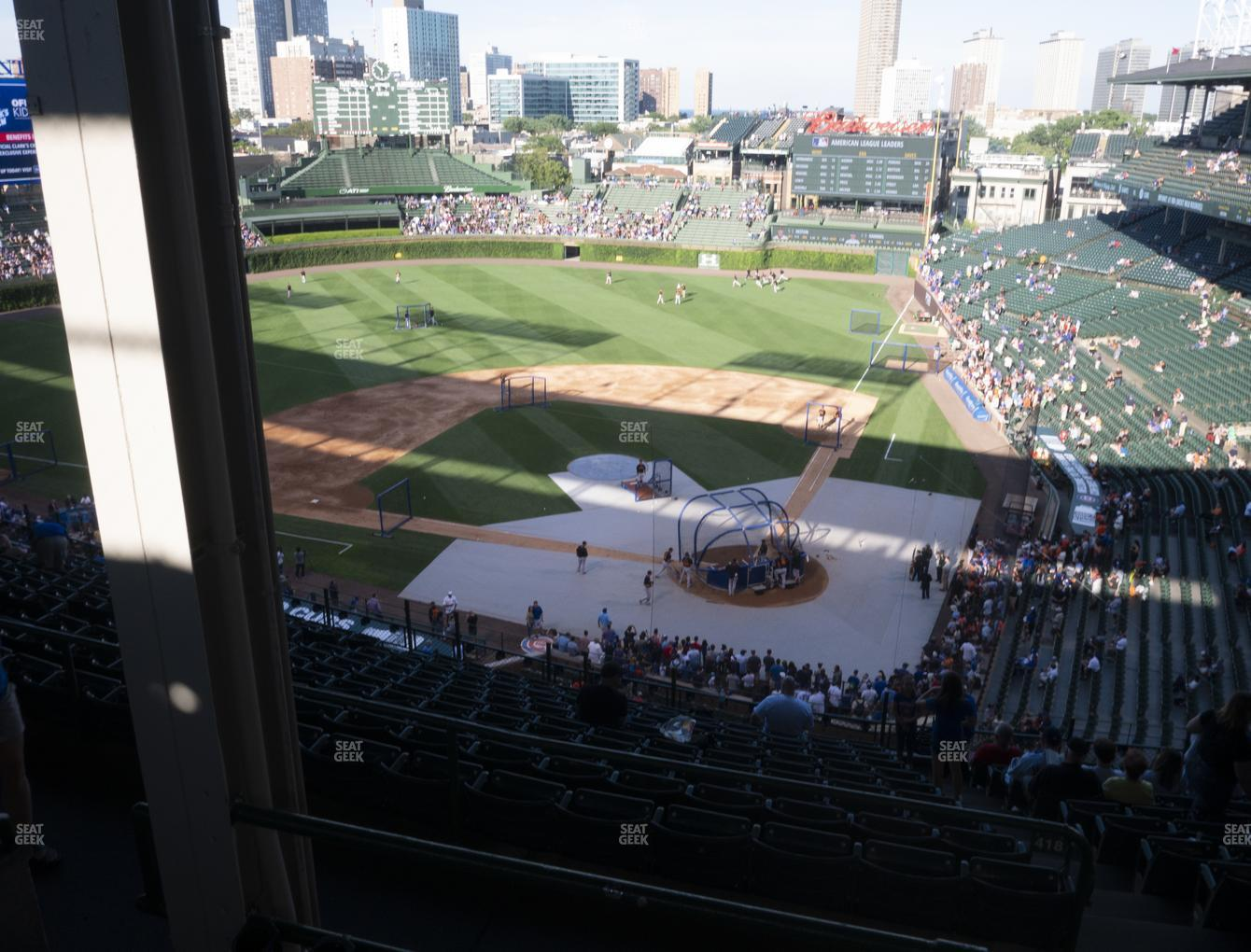 Chicago Cubs at Wrigley Field Section 415 Left View