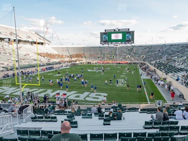 Spartan Stadium Section 30 view