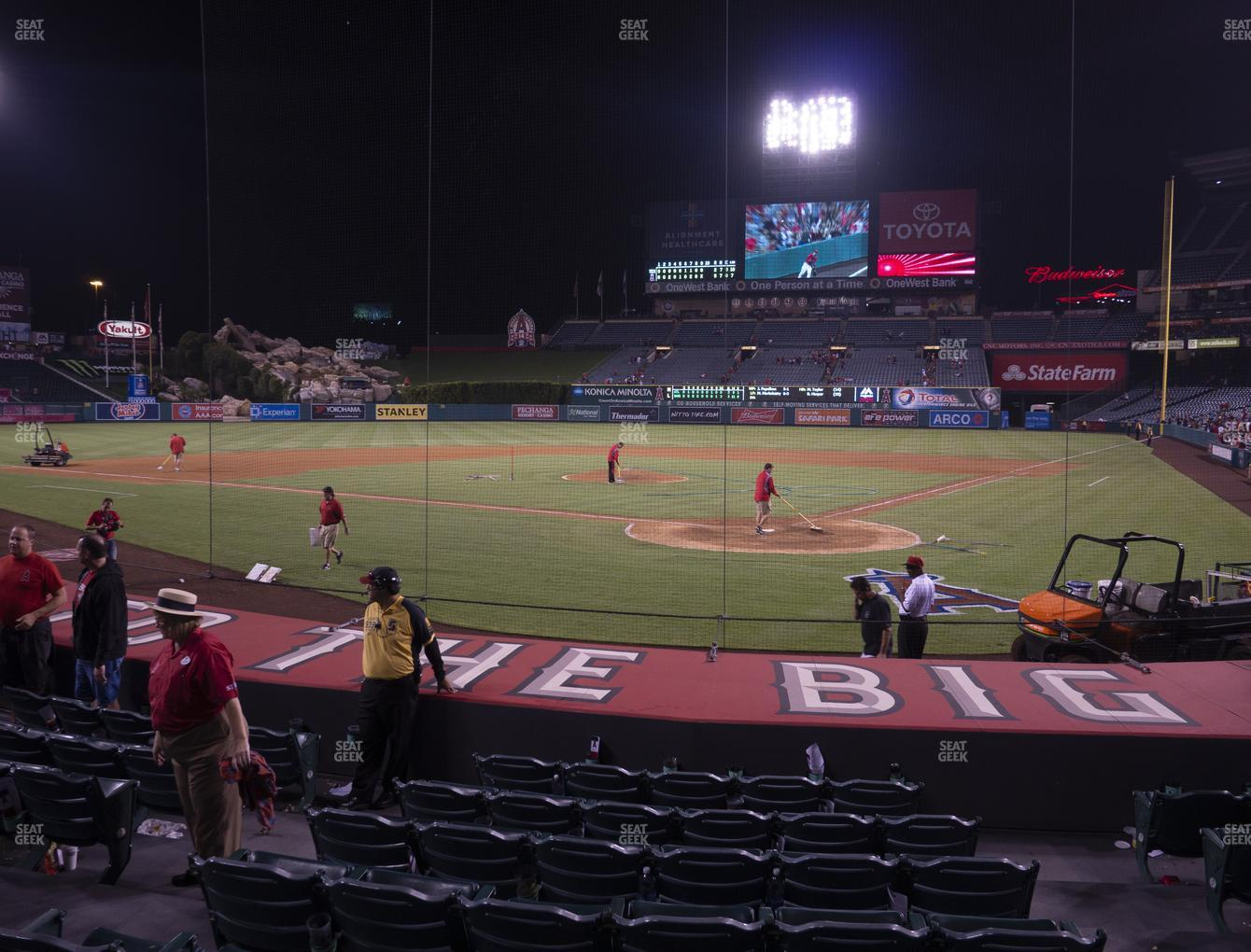 Los Angeles Angels at Angel Stadium of Anaheim Section 116 View