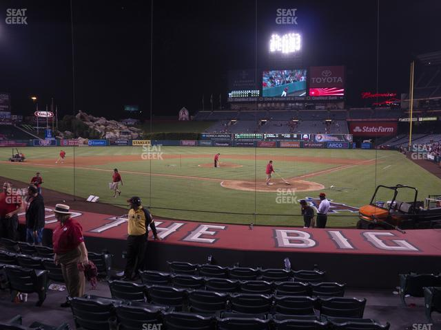 Angel Stadium of Anaheim Section 116 view