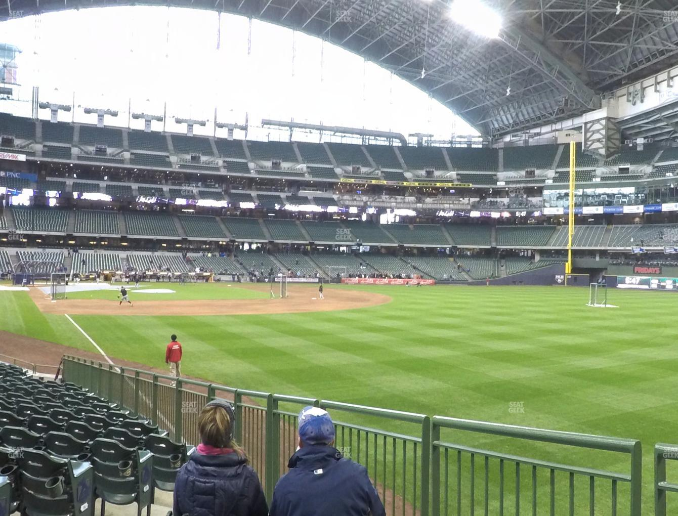 Milwaukee Brewers at Miller Park Section 106 View