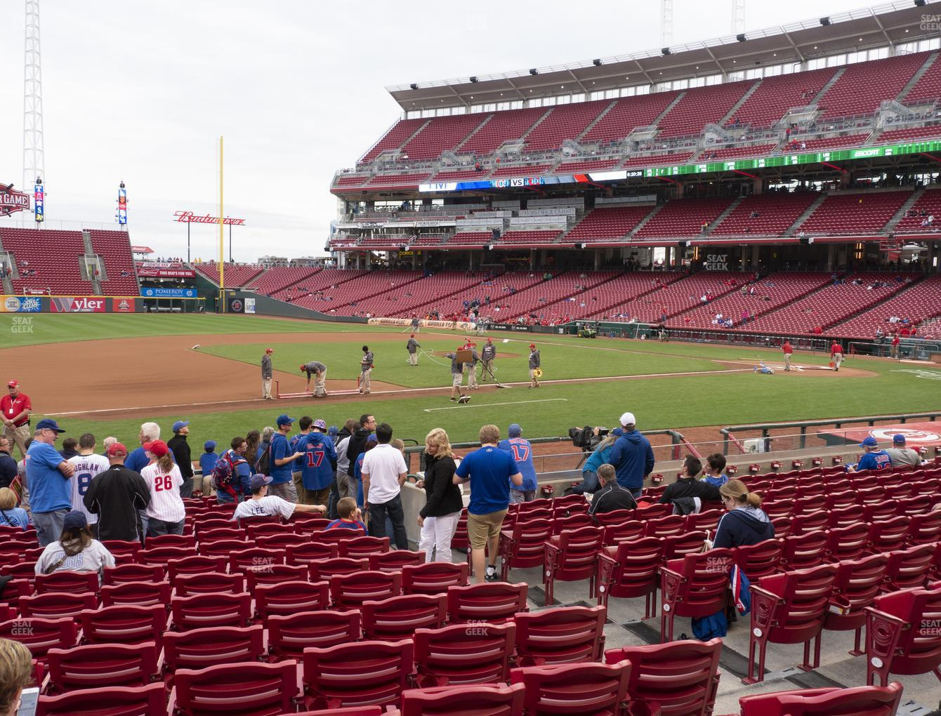 Cincinnati Reds at Great American Ball Park Section 115 View