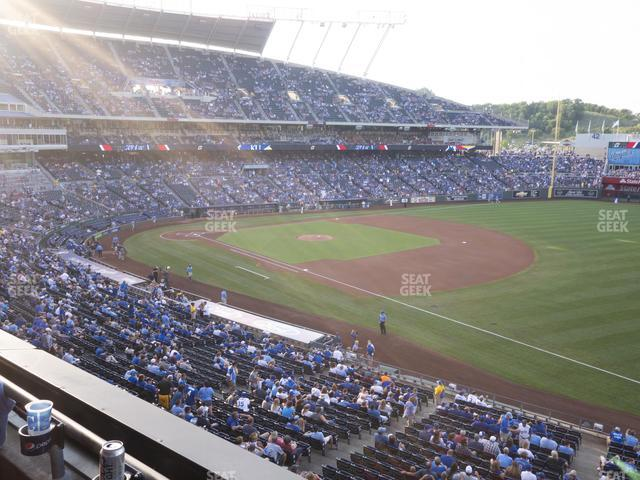 Kauffman Stadium Section 322 view