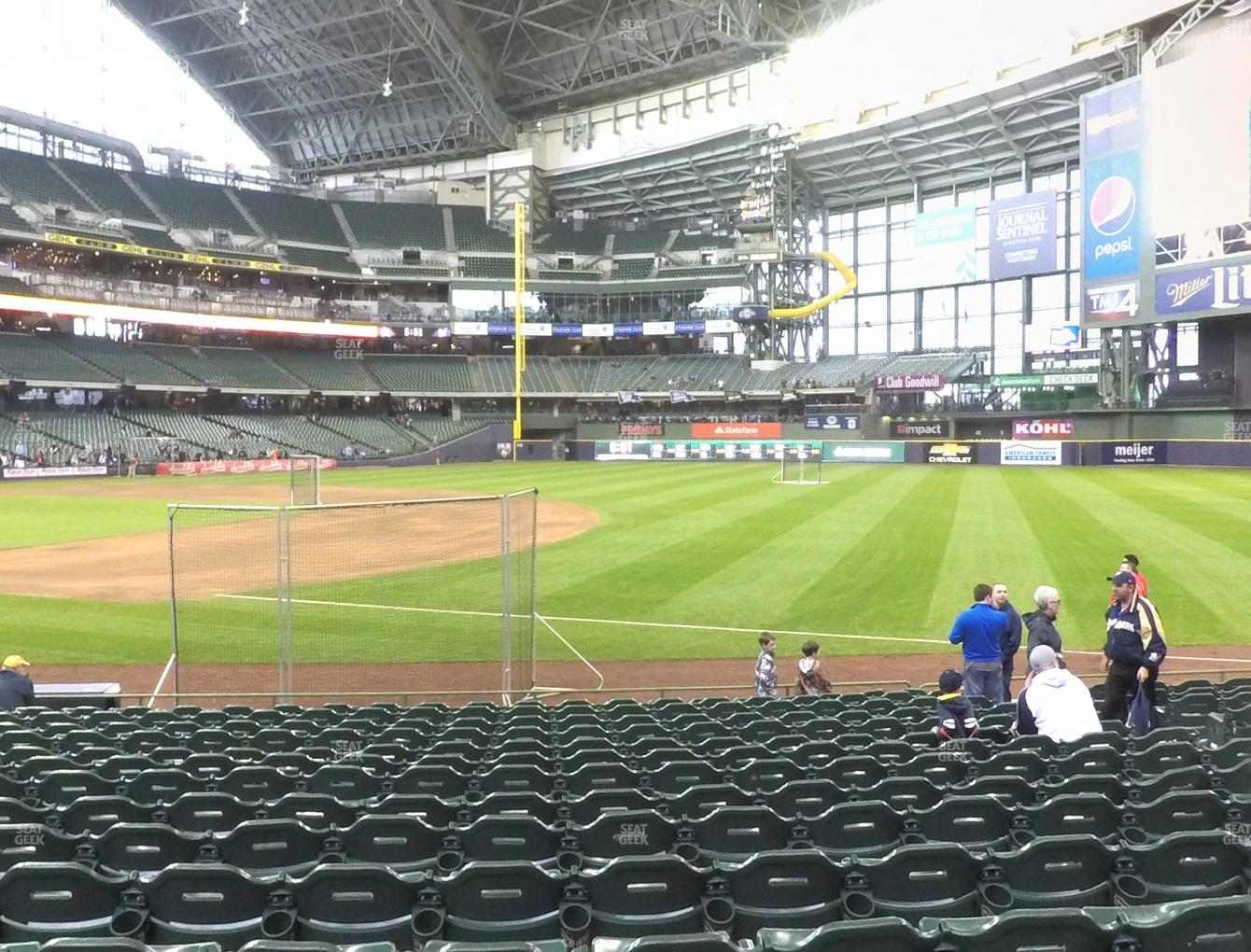 Milwaukee Brewers at Miller Park Section 110 View