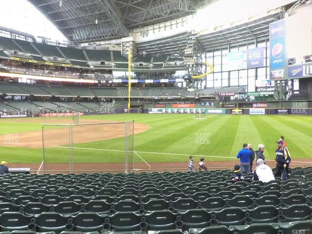 Miller Park Section 110 view