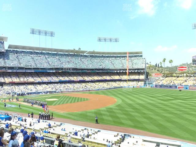 Dodger Stadium Loge Box 154 view