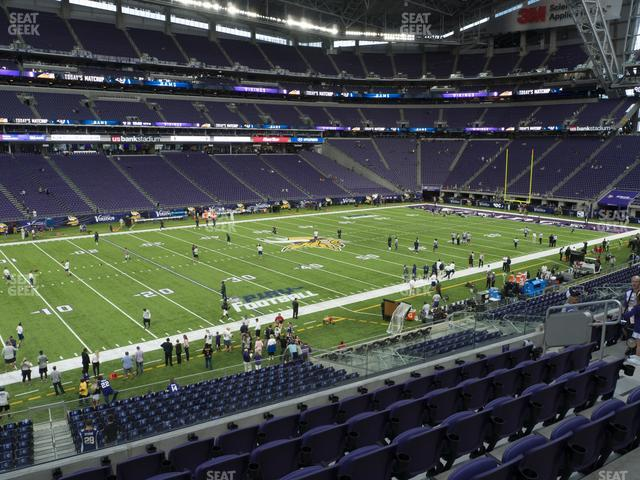 U.S. Bank Stadium Section 133 view
