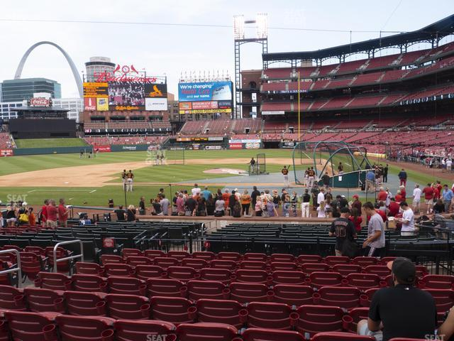 Busch Stadium Home Field Box 154 view