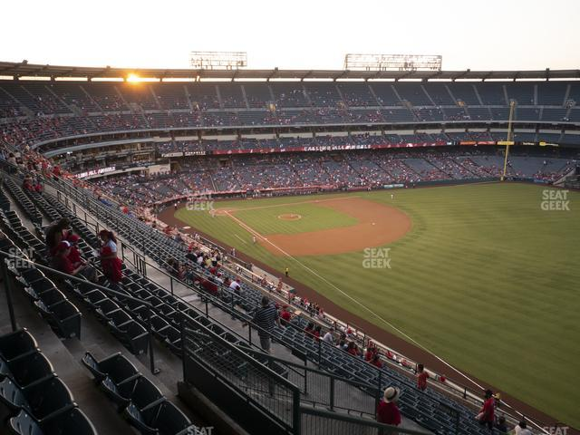 Angel Stadium of Anaheim Section 535 view