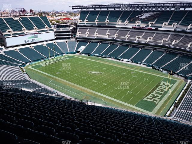 Lincoln Financial Field Section 206 view