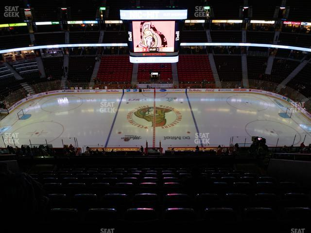 Canadian Tire Centre Section 308 view