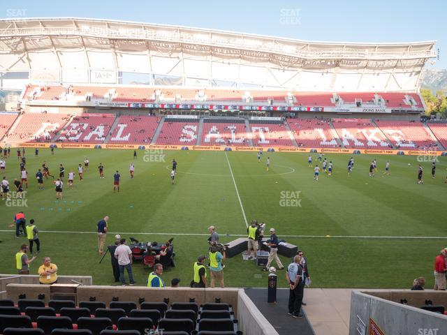 Rio Tinto Stadium Section 19 view