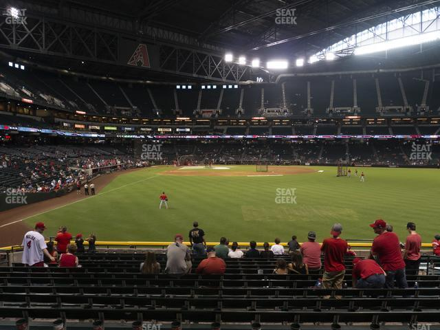 Chase Field Section 104 view