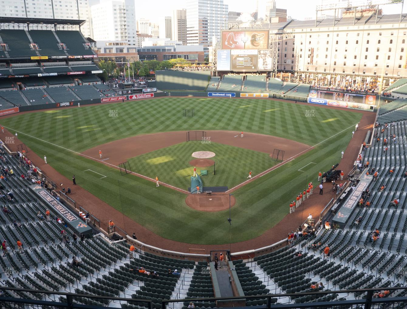 Baltimore Orioles at Oriole Park at Camden Yards Section 338 View
