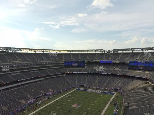 MetLife Stadium Section 322 view