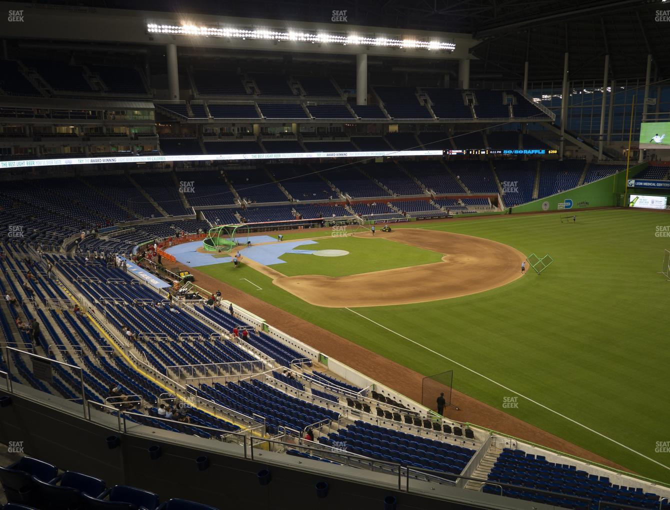 Miami Marlins at Marlins Park Section 203 View