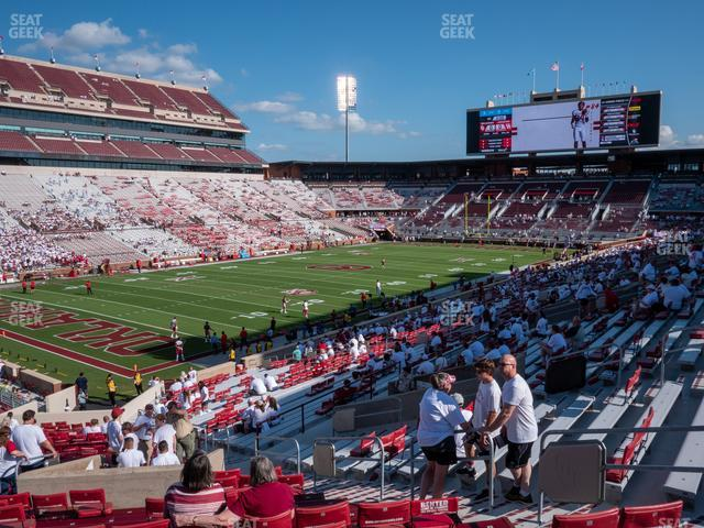 Gaylord Family Oklahoma Memorial Stadium Section 12 view