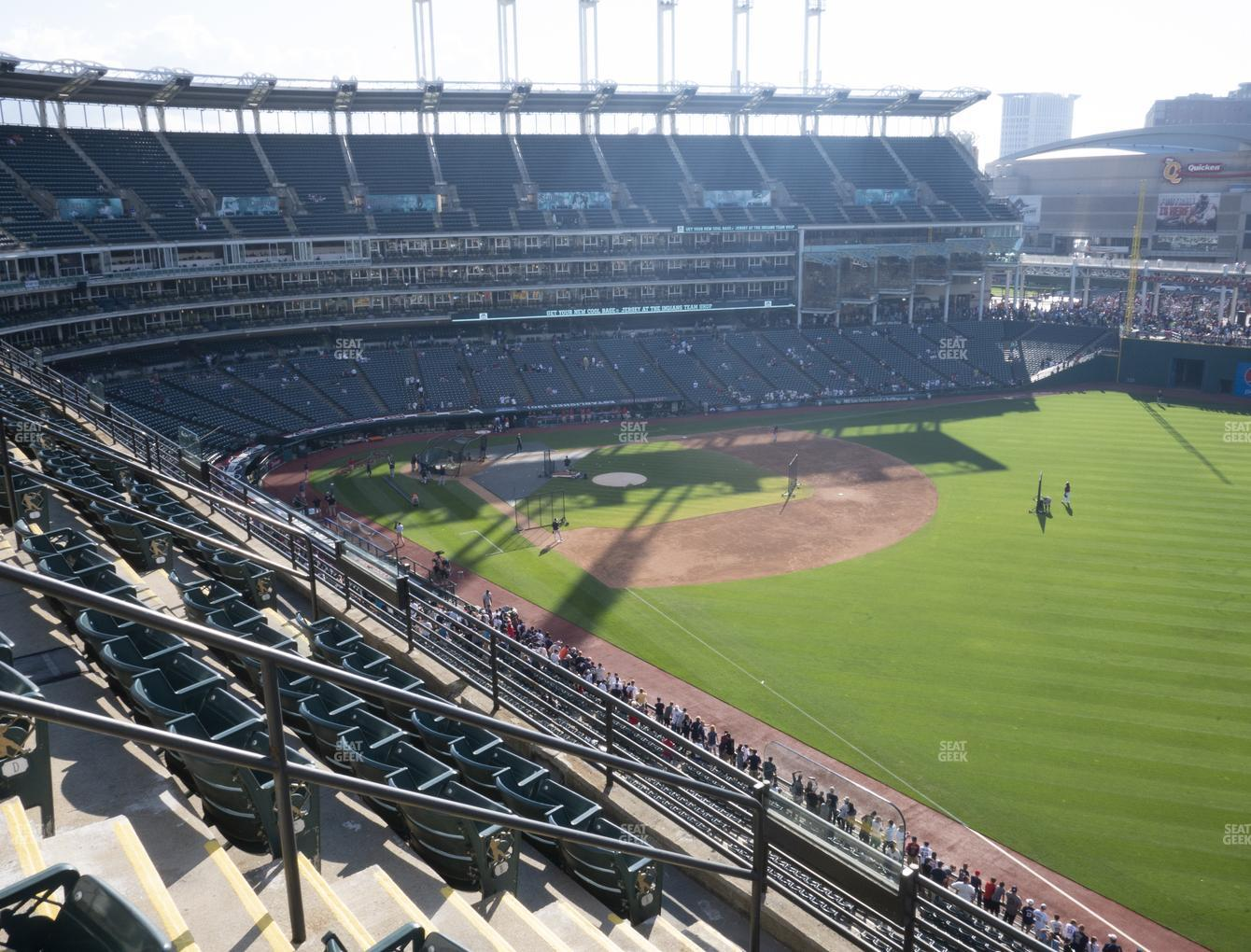Cleveland Indians at Progressive Field Section 425 View
