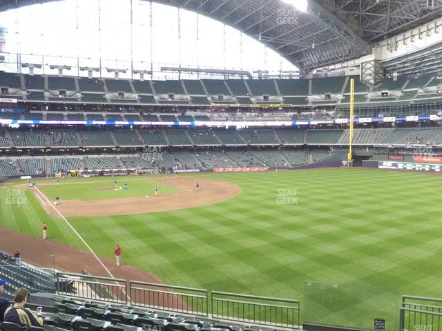 Miller Park Section 206 view
